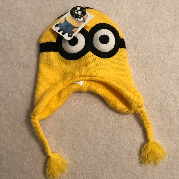 8f128df691f Universal Studios Yellow Minion Winter Beanie Hat